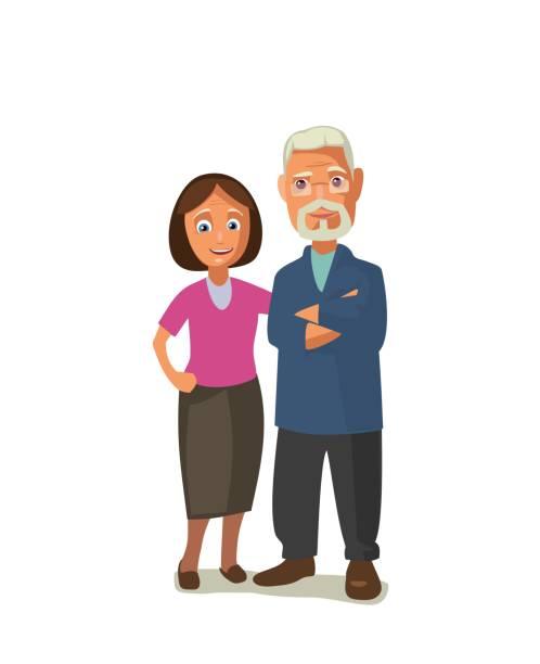 な年配のカップルです。 - 老夫婦点のイラスト素材/クリップアート素材/マンガ素材/アイコン素材