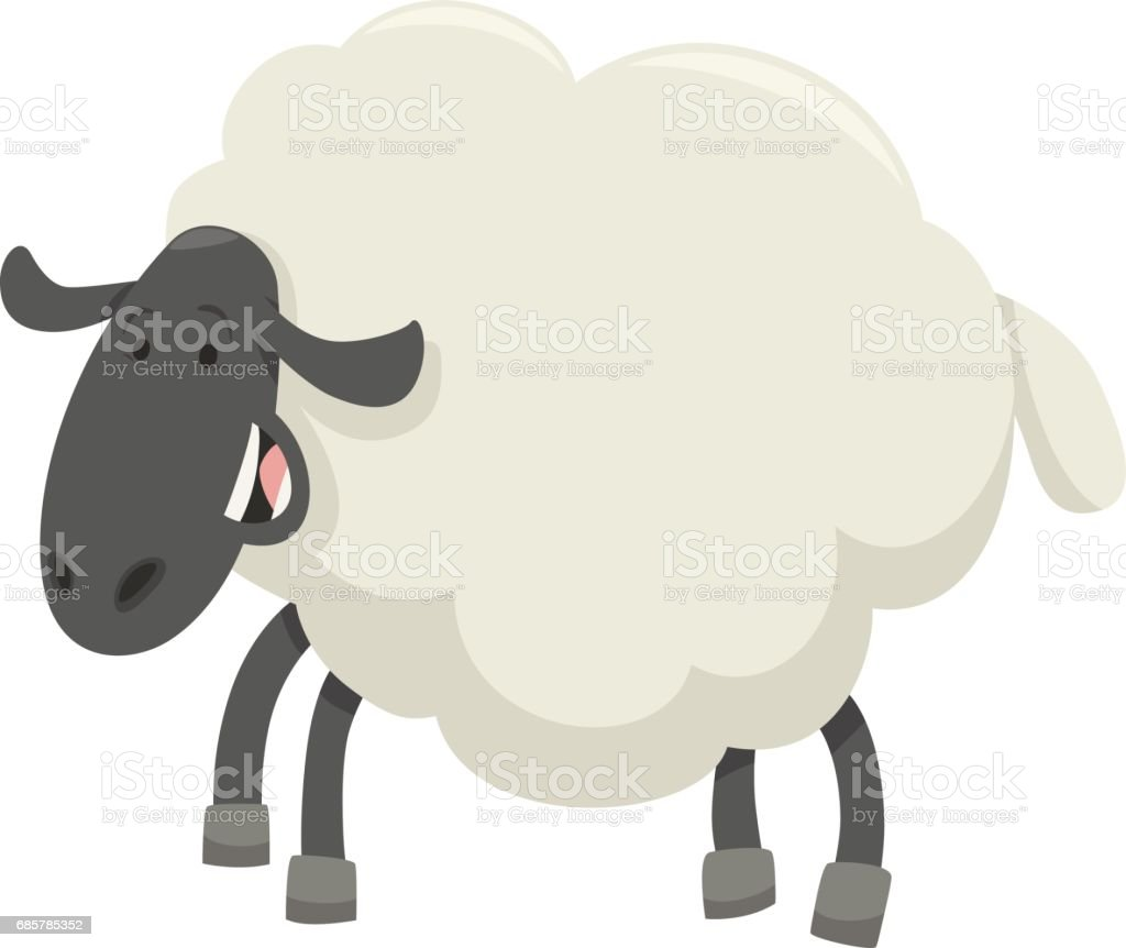 happy sheep animal character royalty-free happy sheep animal character stock vector art & more images of agriculture