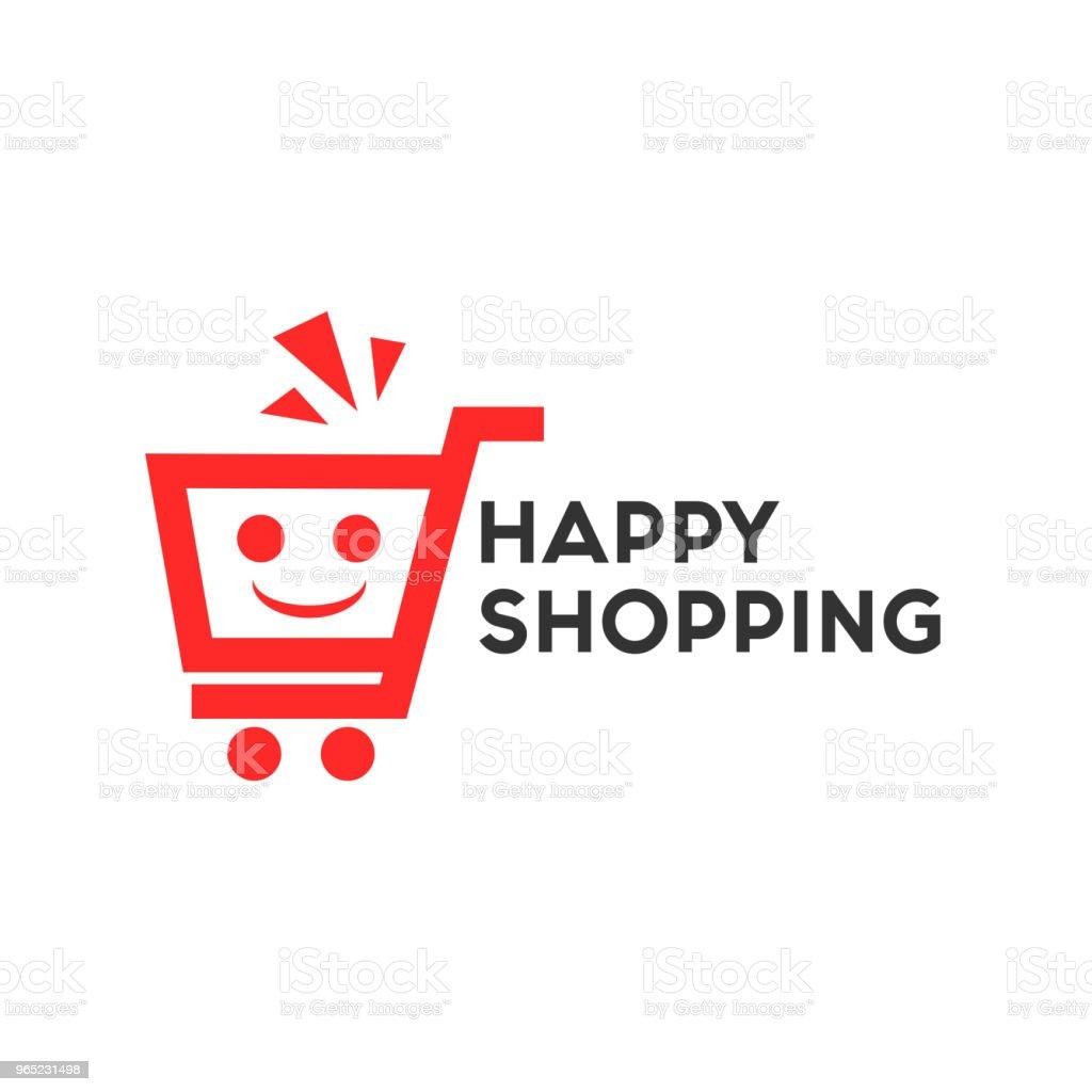 Happy Shopping Logo Vector Template Design happy shopping logo vector template design - stockowe grafiki wektorowe i więcej obrazów dekoracja royalty-free