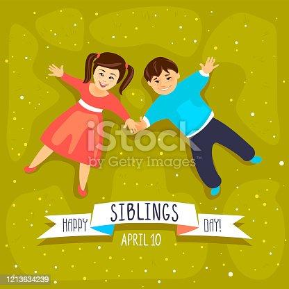 istock Happy siblings day. April 10 1213634239