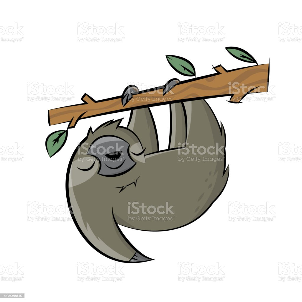 happy sloth clipart cartoon stock vector art more images of animal rh istockphoto com sloth clipart gif sloth clipart gif