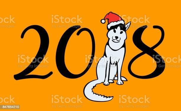 Happy small dog in santa claus hat sitting and smile dog is symbol of vector id847654210?b=1&k=6&m=847654210&s=612x612&h=9o 8h b677ibv9anyhxi 4bguftfk5jv3yp9trxggvo=
