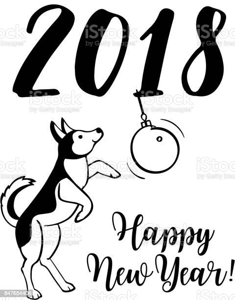 Happy small dog in santa claus hat sitting and smile dog is symbol of vector id847654406?b=1&k=6&m=847654406&s=612x612&h=jylm6ykzfv0pwmbxgygk1ylhgkootftyjwxaih0esmq=