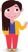 Happy Smiling and Confused Cool and Funny Avatar of Cartoon Character in Flat Vector