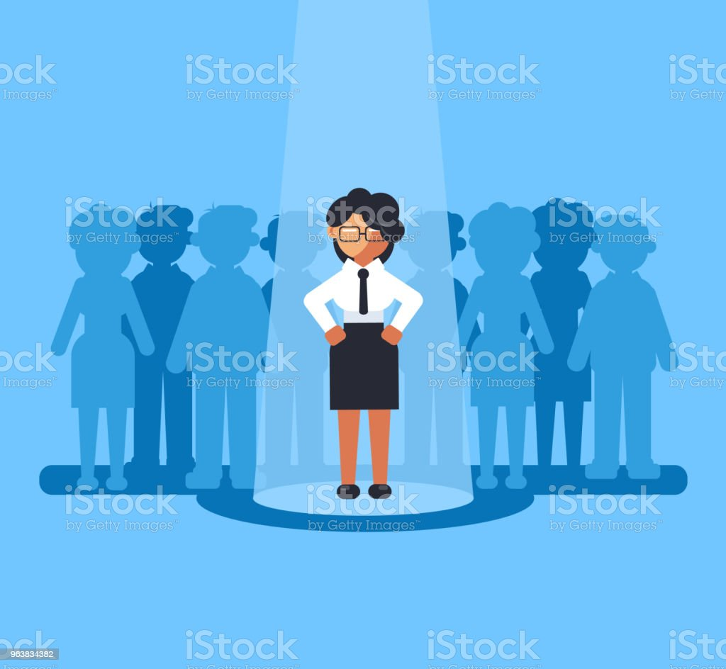 Happy smiling business woman businesspeople office worker manager person job candidate selected choose. Recruitment hunter hire hr human resources career staff concept. Vector flat cartoon graphic design isolated illustration royalty-free happy smiling business woman businesspeople office worker manager person job candidate selected choose recruitment hunter hire hr human resources career staff concept vector flat cartoon graphic design isolated illustration stock illustration - download image now