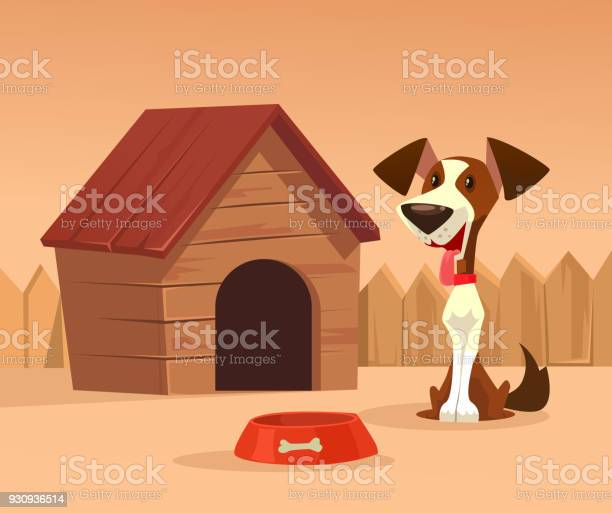 Happy smiling dog character guards house vector id930936514?b=1&k=6&m=930936514&s=612x612&h=r3g4vbm2pqbqbjgg n0vnxjas 7d akel1ovxnd iba=