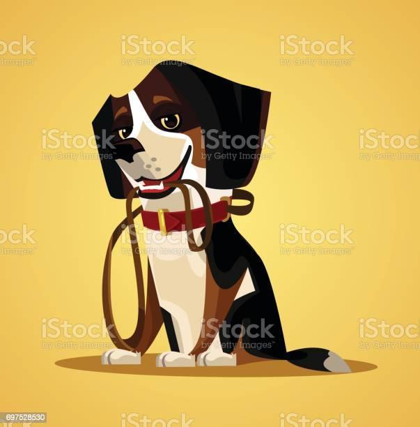 Happy smiling dog character hold leash in mouth vector id697528530?b=1&k=6&m=697528530&s=612x612&h=zgw2oskbtauork 1r3xjnatklk q05 3txjltjw4hag=
