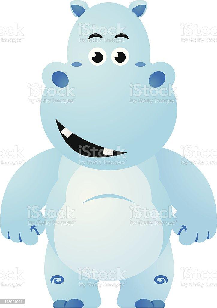 행복함, 웃는 Hippo royalty-free 행복함 웃는 hippo 놀이에 대한 스톡 벡터 아트 및 기타 이미지
