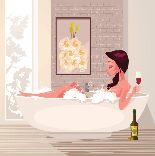 42 Cartoon Of The Sexy Women Taking A Shower Illustrations Royalty Free Vector Graphics Clip Art Istock