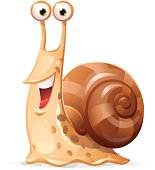 Illustration of a laughing snail. EPS 10, grouped and labeled in layers.