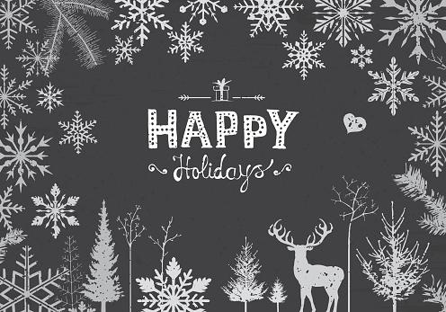 Happy snowflakes