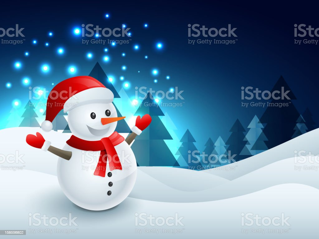 행복함 눈사람 royalty-free 행복함 눈사람 12월에 대한 스톡 벡터 아트 및 기타 이미지