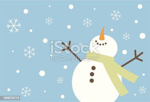 istock Happy Snowman 165620215