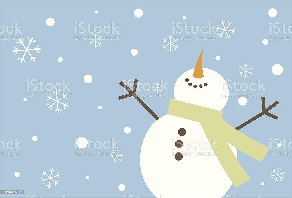 Heureux Bonhomme de neige - Illustration vectorielle