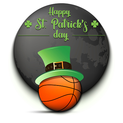 Happy St. Patricks day and basketball ball