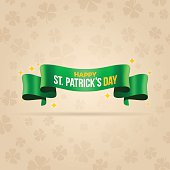 Happy St. Patrick's Day banner with space for your content. EPS 10 file. Transparency effects used on highlight elements.