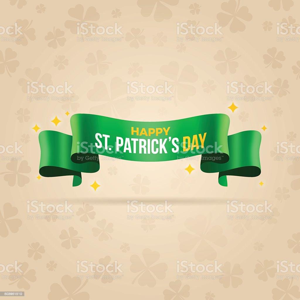 Happy St. Patrick's Day Banner vector art illustration