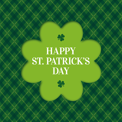 Happy St. Patrick's Day Card with Clover frame