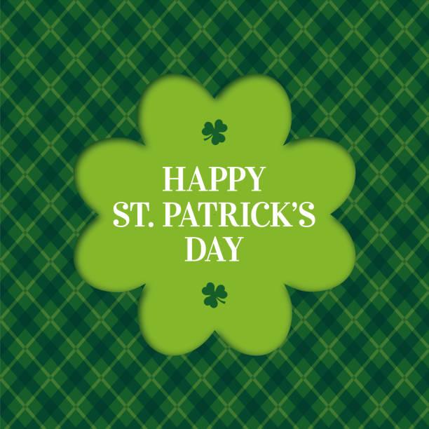 happy st. patricks day card mit klee rahmen - pfand stock-grafiken, -clipart, -cartoons und -symbole