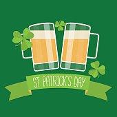 Happy St Patricks day green card.