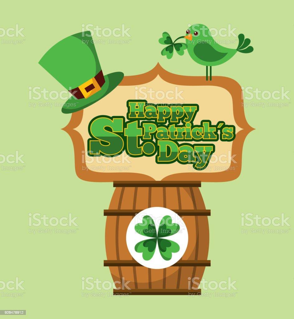 Happy St Patricks Day Greeting Invitation Card Stock Vector Art