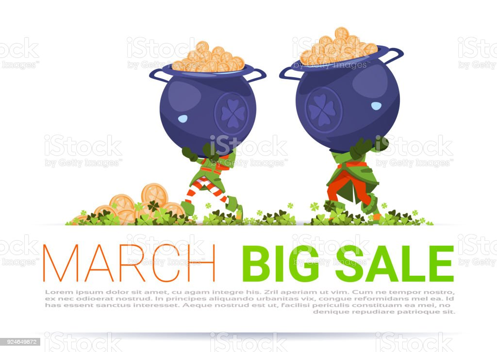 Happy St Patricks Day Holiday Discount March Big Sale