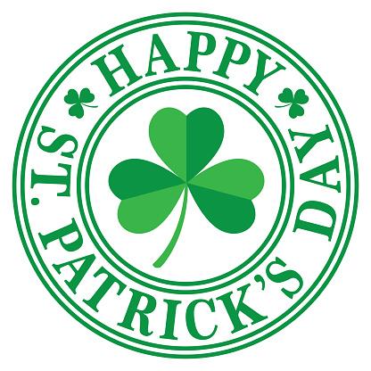 Happy St Patricks Day Label 2