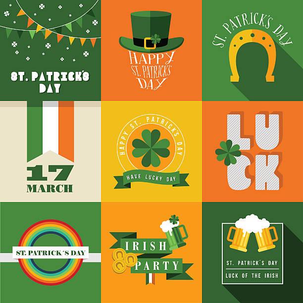 Glücklich St Patricks day-label-Grafik – Vektorgrafik