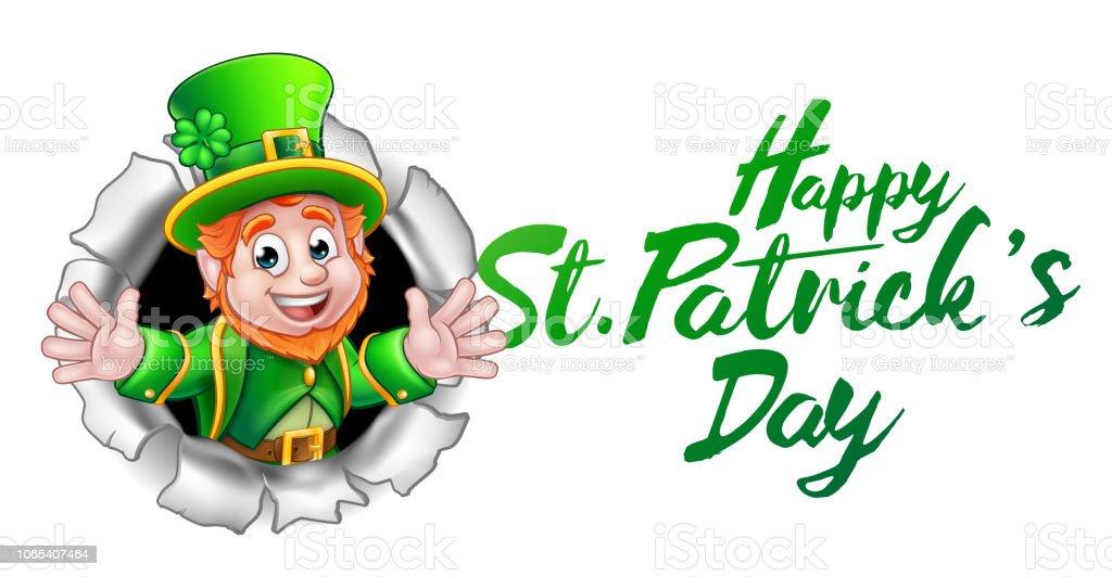 Happy St Patricks Day Leprechaun Cartoon Stock Vector Art ...