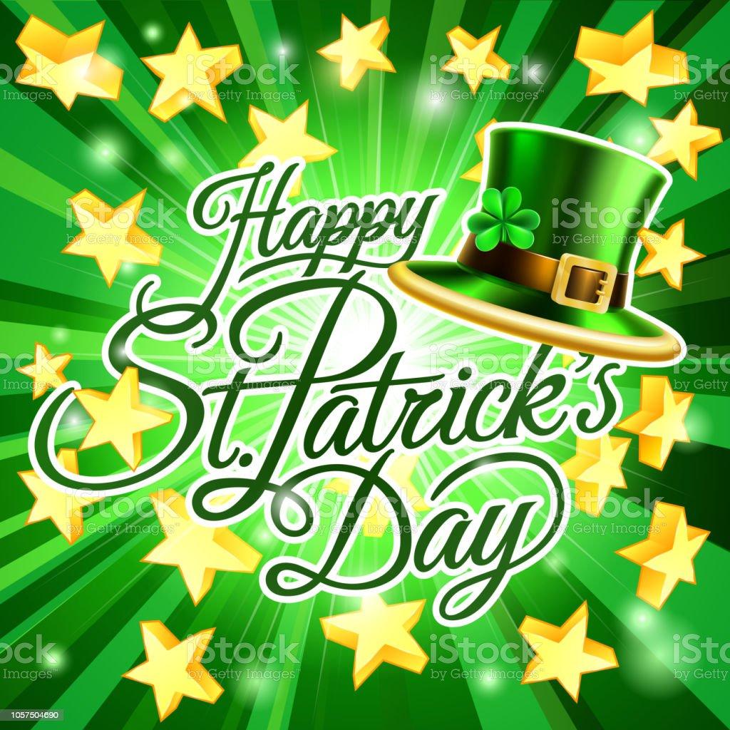 a08b2f4c Happy St Patricks Day Leprechaun Hat Background royalty-free happy st  patricks day leprechaun hat