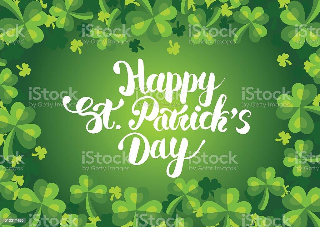 Happy St. Patrick's Day postcard vector art illustration