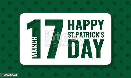 happy st. patrick's day, vector greetings card