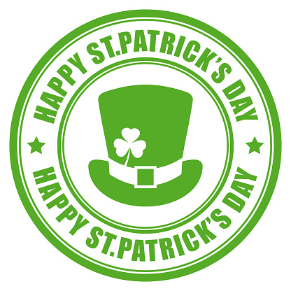 Happy St Patrick's Day vector label