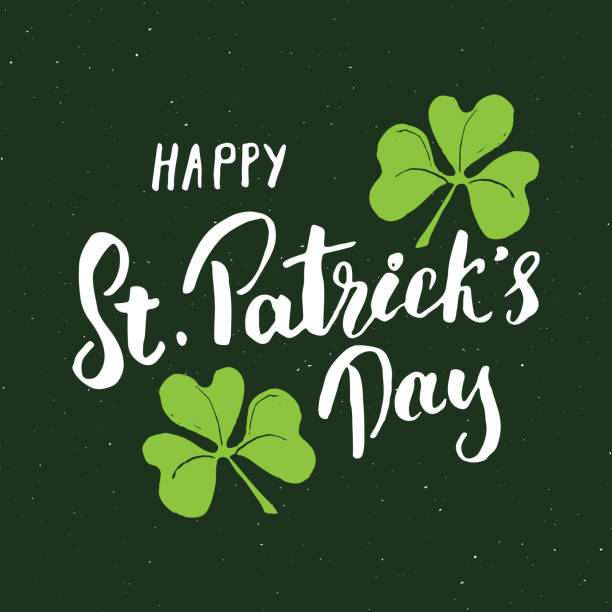 Happy St Patrick's Day Vintage greeting card Hand lettering, Irish holiday grunge textured retro design vector illustration Happy St Patrick's Day Vintage greeting card Hand lettering, Irish holiday grunge textured retro design vector illustration. st patricks day stock illustrations