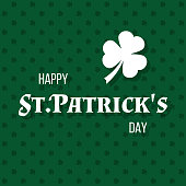istock happy st.patrick's day, vector greeting card or poster 1303273572