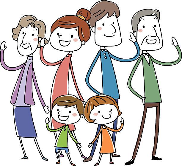 幸せな家族ではありません。ベクトルイラスト - 家族 日本人点のイラスト素材/クリップアート素材/マンガ素材/アイコン素材