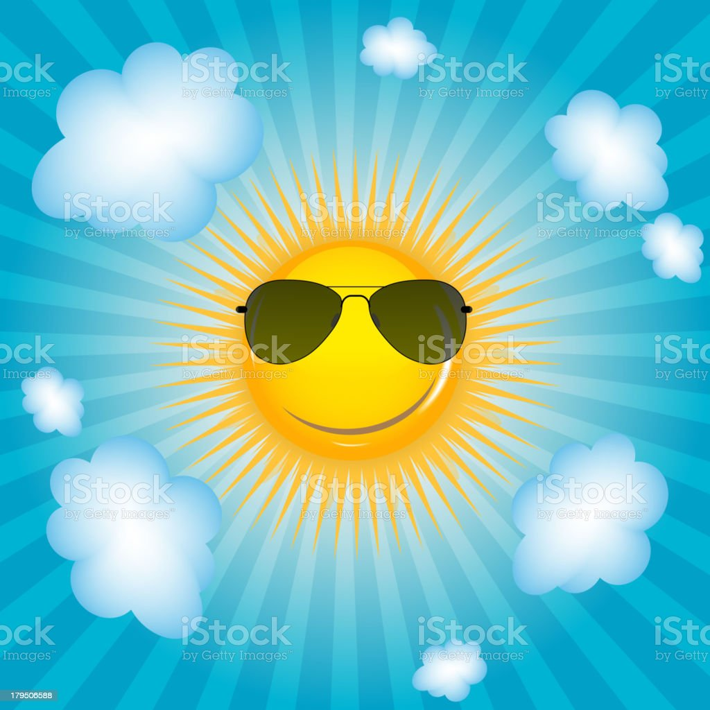 Happy Sun  background vector illustration royalty-free happy sun background vector illustration stock vector art & more images of art