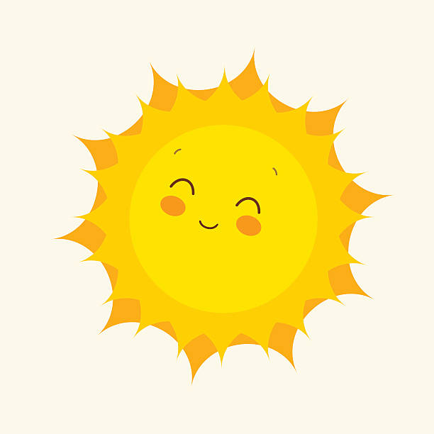 stockillustraties, clipart, cartoons en iconen met happy sun icon. vector illustration - zonnig