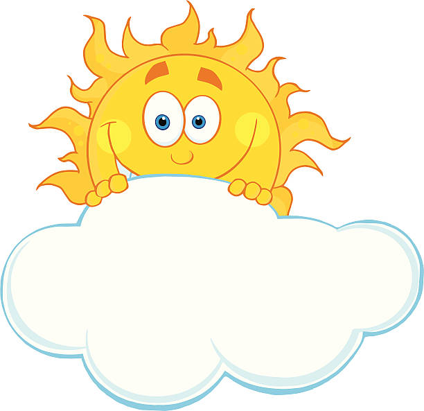 Royalty Free Partly Cloudy Cartoon Clip Art, Vector Images ...