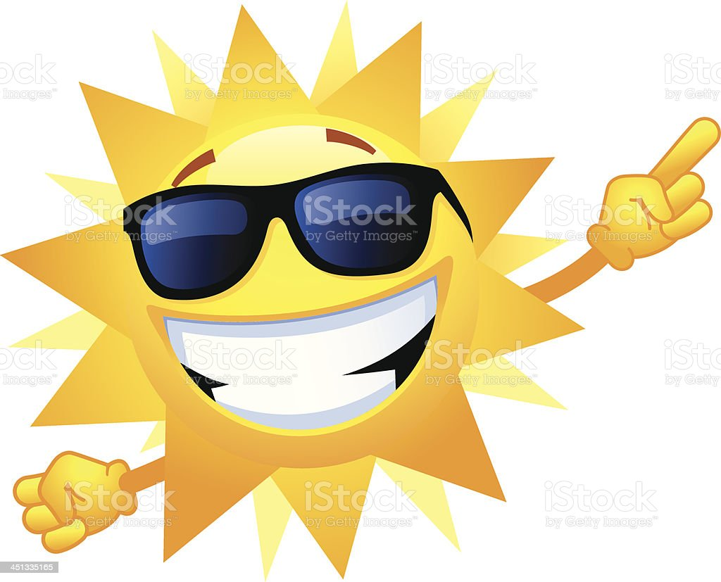 Happy Sun vector art illustration