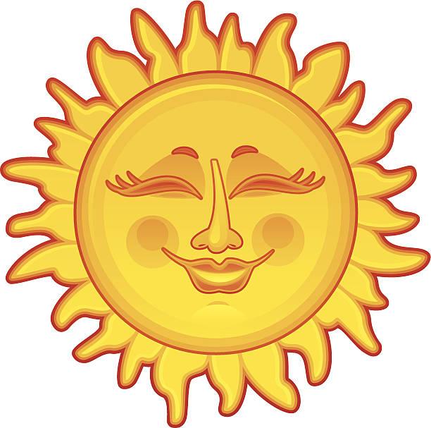 Happy Sun vector art illustration