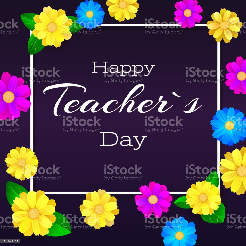 Happy teacher day greeting banner for your congratulations cards happy teacher day greeting banner for your congratulations cards realistic colorfull bright kristyandbryce Choice Image