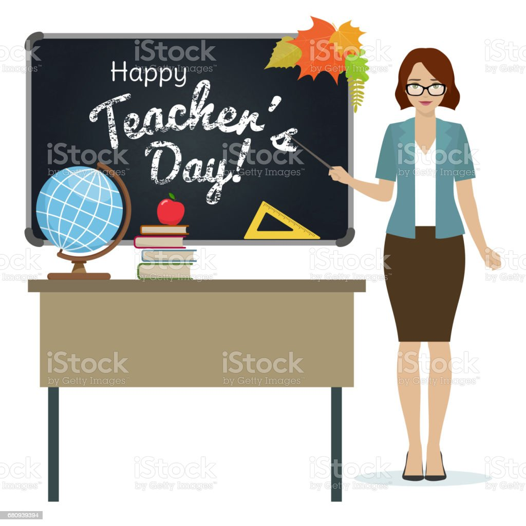 Happy Teacher Day greeting royalty-free happy teacher day greeting stock vector art & more images of apple - fruit