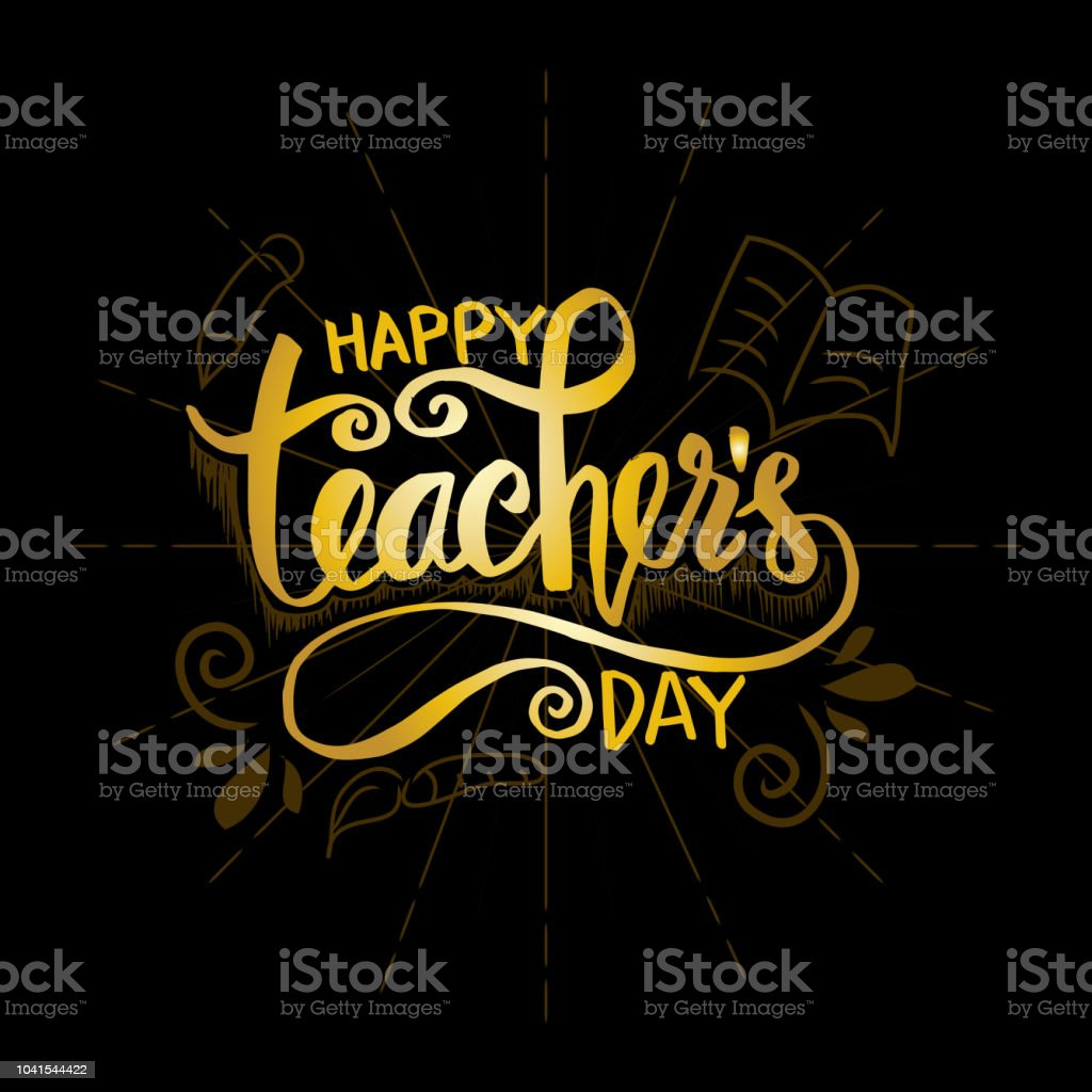Happy Teachers Day Greeting Card Stock Vector Art More Images Of