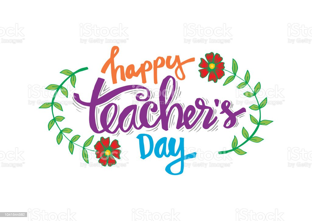 happy teachers day greeting card stock illustration