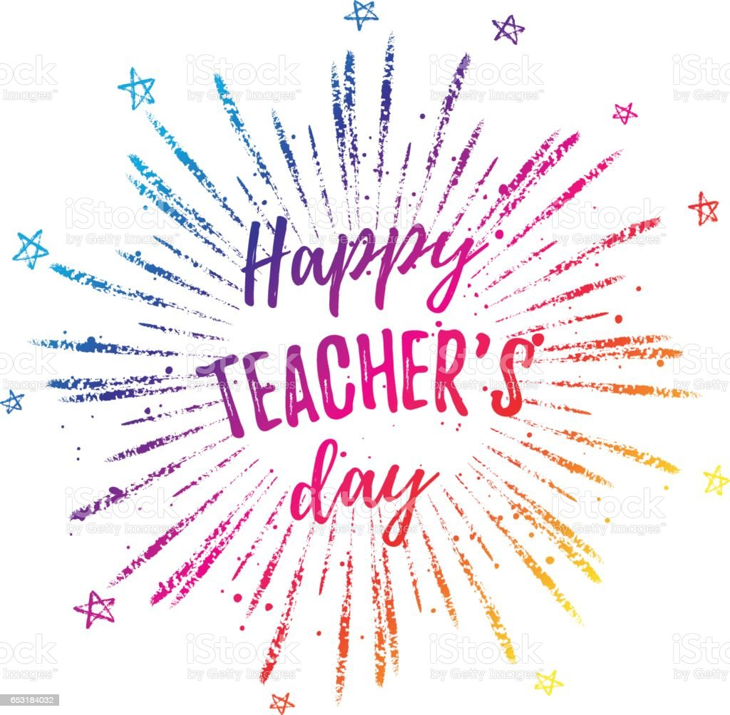 Happy teachers day label greeting card poster vector colorful quote happy teachers day label greeting card poster vector colorful quote on a white m4hsunfo Image collections