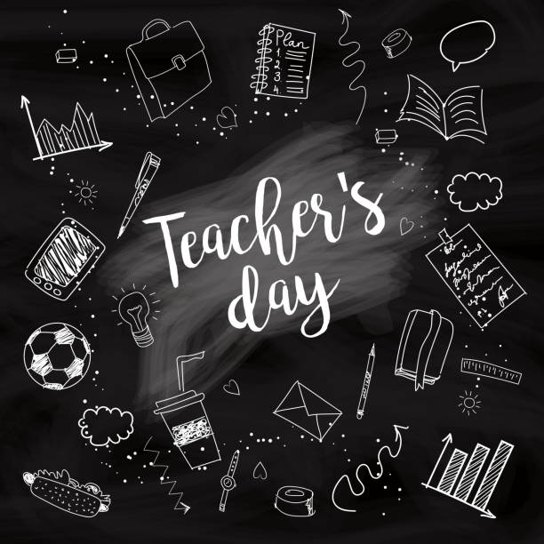 Happy Teacher's day vector art illustration