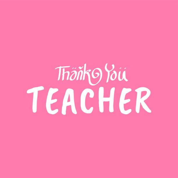 Happy teacher's day vector illustration. Happy teacher's day greeting vector illustration. teacher appreciation week stock illustrations