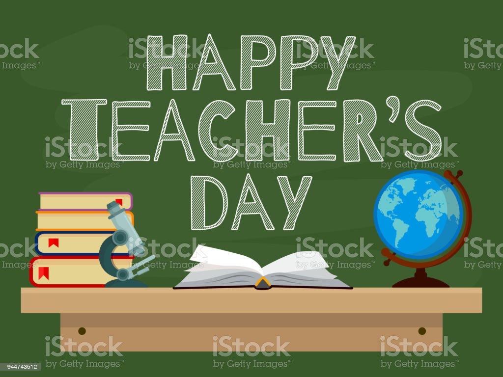 Happy Teacher's Day. Vector illustration web banner. EPS10. vector art illustration