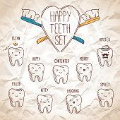 Happy teeth set